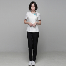Beauty salon work clothes professional spring and summer set short sleeve ladies beautician's