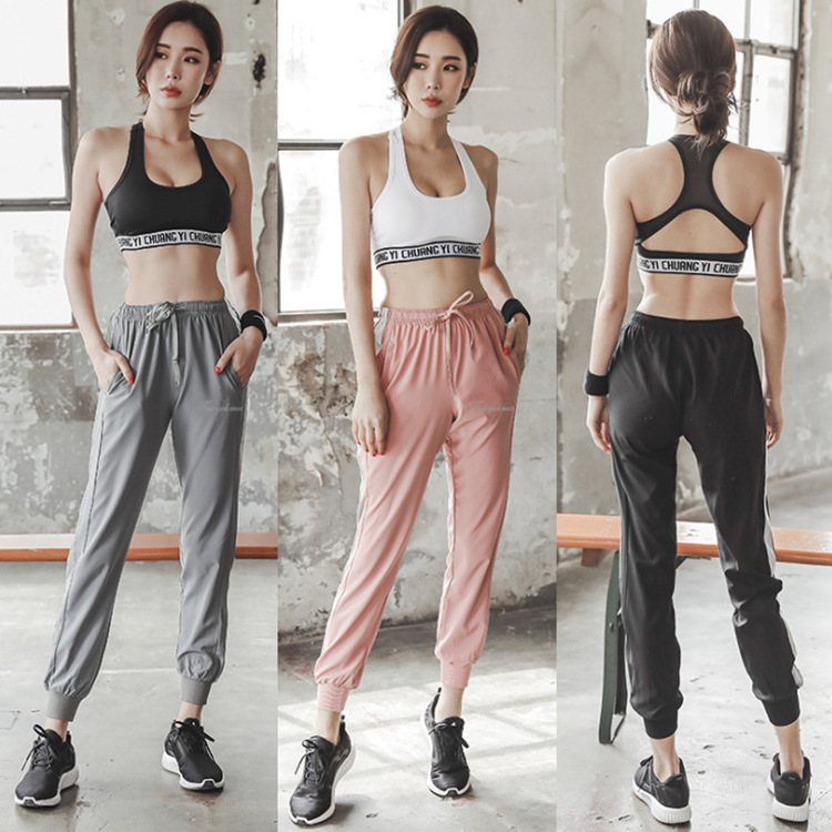 The Ultra-Fire De Fu Pants Female Korean Version Of The Summer Loose Harness Pin 9 To The Casual Pants Leggings