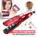 Паровой выпрямитель для волос Электрический Плоский Утюг steampod Керамический выпрямитель для волос Инструменты для укладки kemei выпрямляющая...