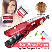 Steam hair straightener Electric flat iron steampod ceramic