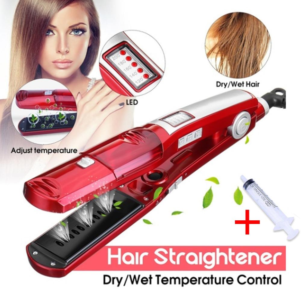 vapor alisador de cabelo eletrico plana ferro steampod ceramica straightner ferramentas estilo do cabelo kemei placa