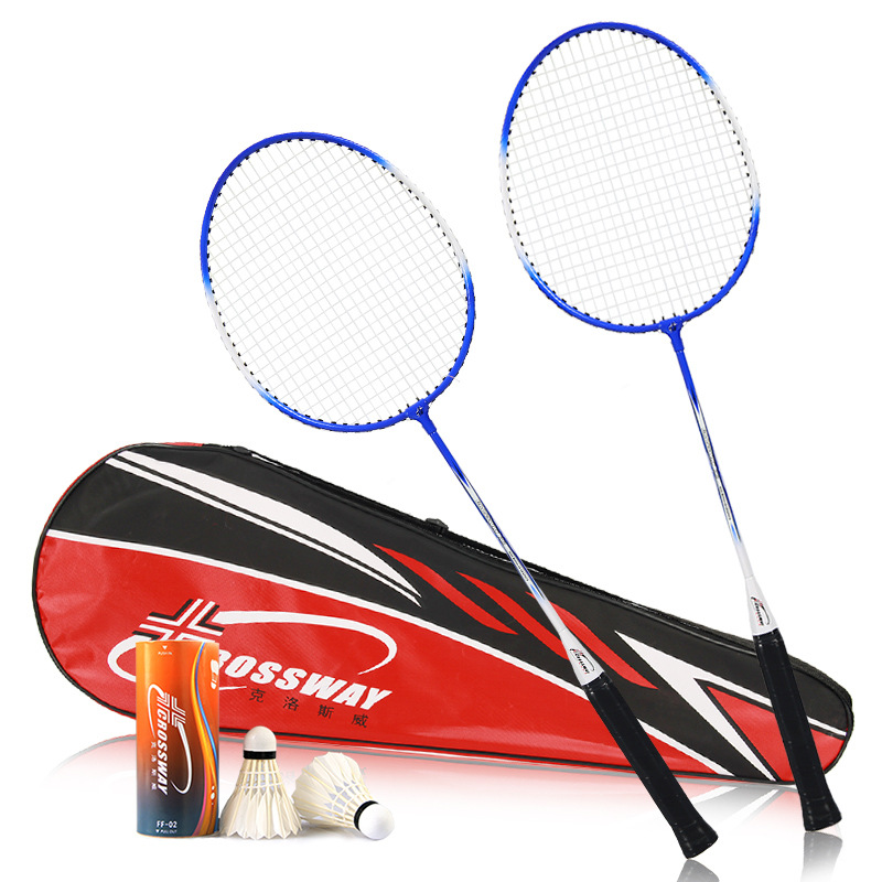 Badminton Racket Double Racket Family Lovers Super Ferroalloy Badminton Racket Battledore With 1 Gift Bag And 2 Pcs Badminton