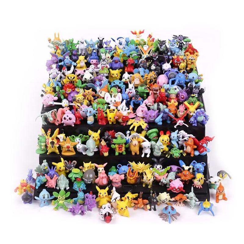 24/144Pcs Tomy Different Styles Pokemon Figures Model Collection Pokémon Pikachu Anime Figure Toys Dolls Child Birthday Gifts