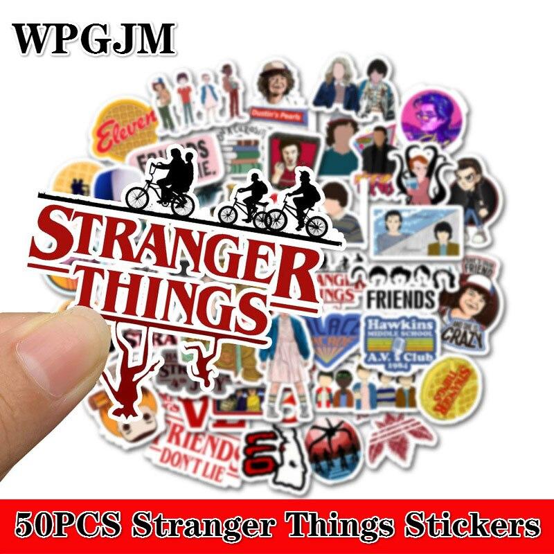 50pcs/Pack Stranger Things Stickers Waterproof Skateboard Suitcase Snowboard Fridge Phone Laptop Sticker Kids Reward Classic Toy