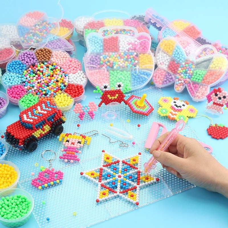 11000PCS 3D Puzzle Toys Diy Water Kralen Toy for Animal Molds DIY Hand Making Puzzles Toys Spell Replenish kids toys Beads