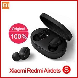 Image 5 - Original Xiaomi Redmi Airdots 2 TWS 이어폰 True Wireless Bluetooth 5.0 마이크 핸즈프리 이어 버드가있는 스테레오베이스 AI Control