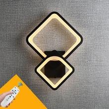 Современный минималистичный светодиодный квадратный настенный