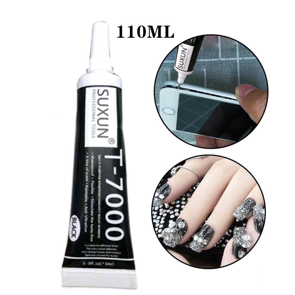 110ml T-7000 Black Universal Glue Repair Metal Glue Plastic Soft Glue DIY Handwork