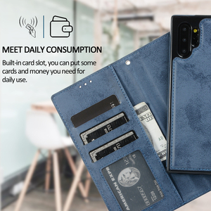 Image 2 - S10e Flip Cover For Samsung Galaxy S21 Note 20 Ultra 10 S20 FE S8 S9 Plus Phone Case Retro Leather Wallet 2in1 Detachable Shell