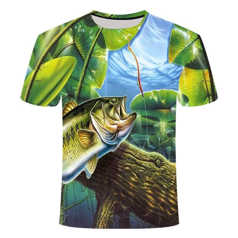 20193d Футболка мужская хип-хоп Футболка с принтом тропических рыбаков забавная футболка Летняя Fishhook мужская одежда