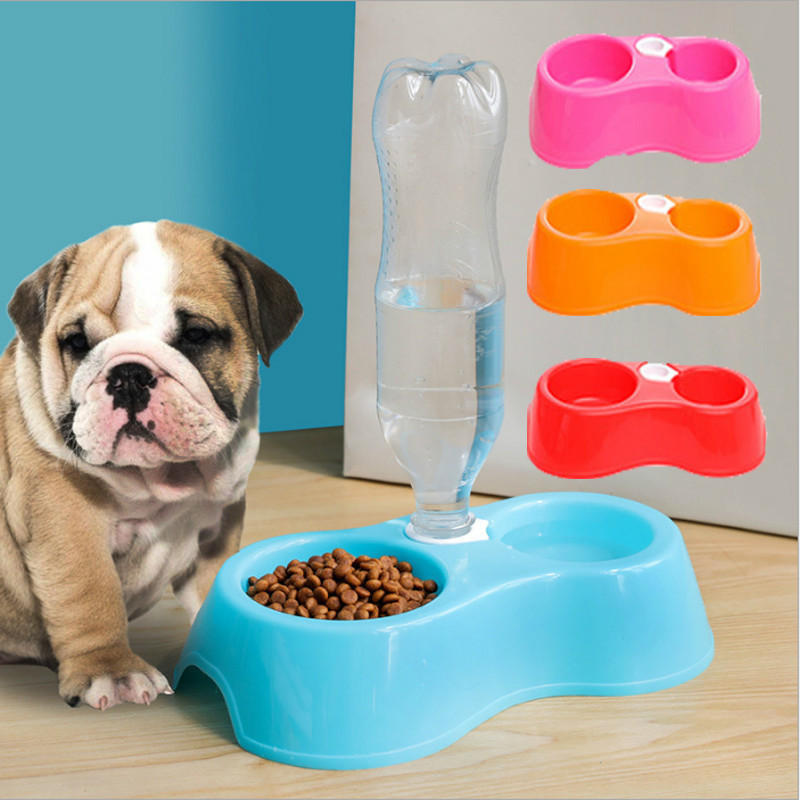 1pcs Pet Plastic Puppy Pet Drinkers Automatic Water Feeder Dispenser Food Dish Bowl Pet Dog Cat Drinking Water for Dog Cat