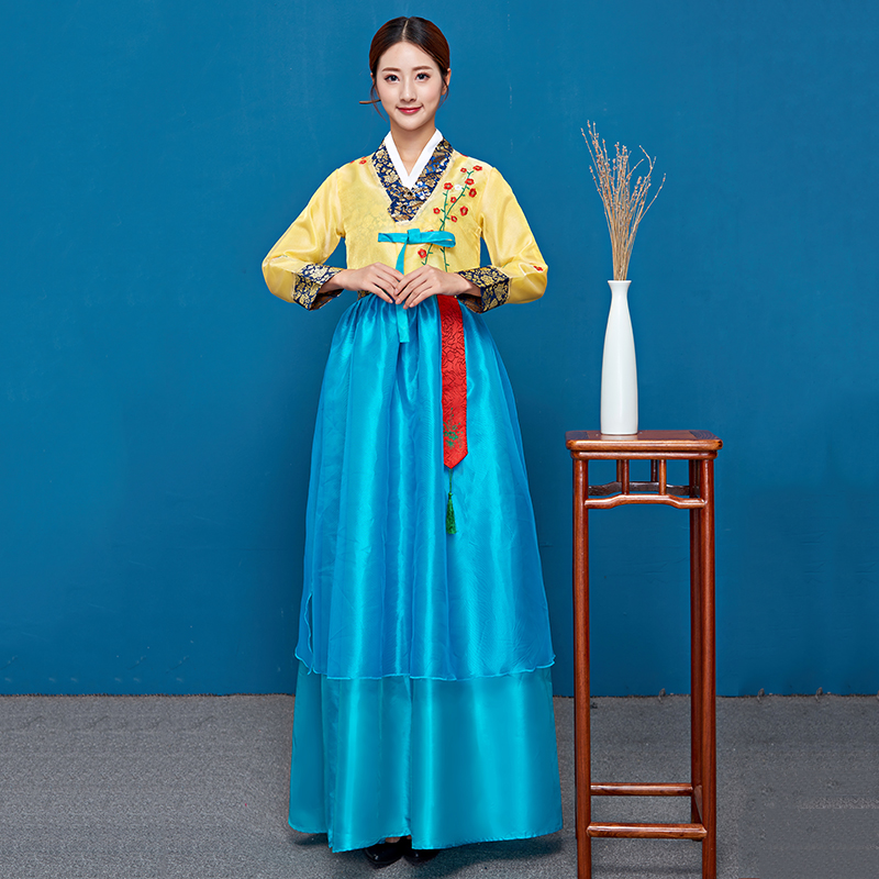 New Korean Clothing Traditional Court Women'S Hanbok Female Korea Palace Costumes Hanbok Minority Performance Clothing SL1524