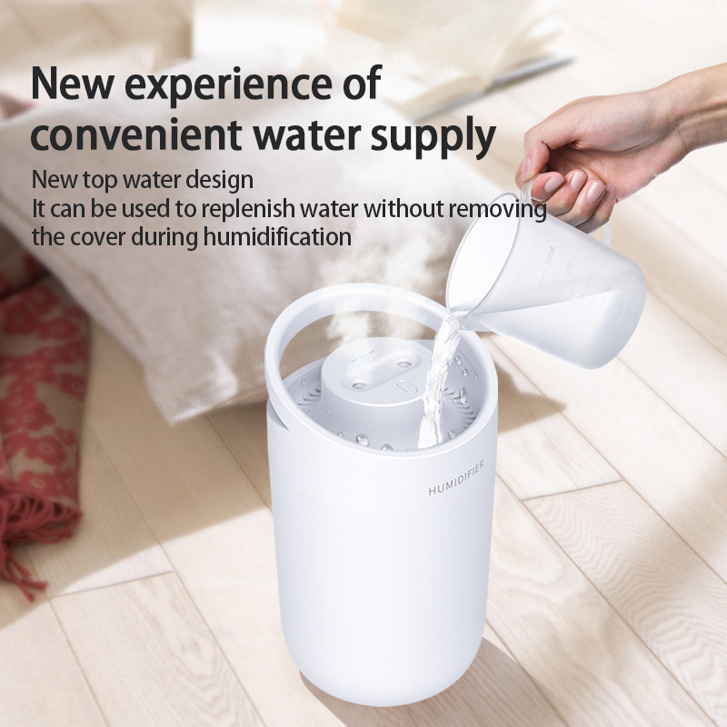 1Pcs Air Humidifier 3L large-capacity Air Purifier For Home Bedroom Portable Water-adding Office Double-Jet Humidifier Sprayers-1