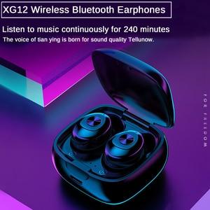 Image 5 - XG12 TWS Bluetooth 5.0 kulaklık Stereo kablosuz kulakiçi HIFI ses spor kulaklık Handsfree oyun mikrofonlu kulaklık telefon için