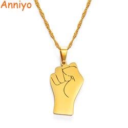 Anniyo preto vidas assunto pingente africano colares mulheres, cor de ouro punho colares áfrica ornamento