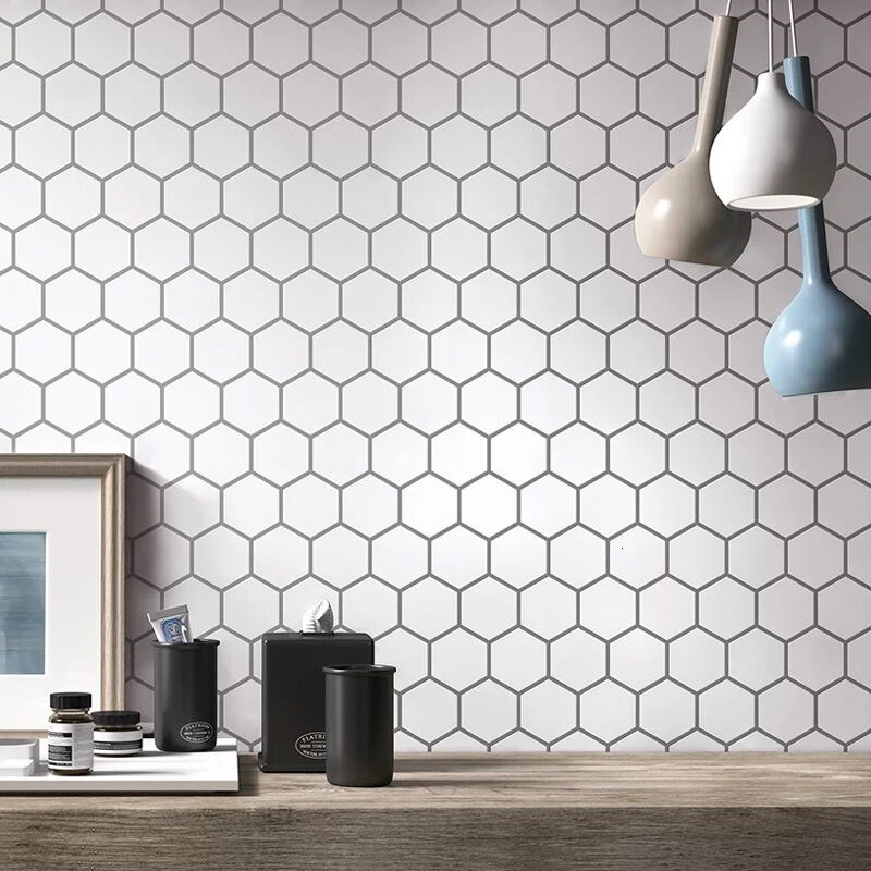 White Self Adhesive Wall Sticker 3D Peel Wall Tiles for Kitchen and Bathroom