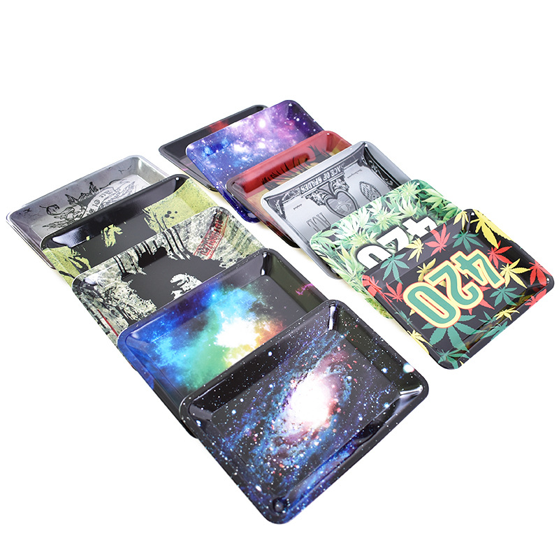 Multicolor Portable Cigarette Tray Smoke Accessories Tool Tobacco Storage Plate Discs For Herb Grinder