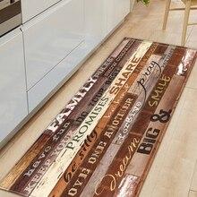 Rug Carpet Entrance-Doormat Kitchen-Mat Floor-Decoration Wood-Grain Bedroom Anti-Slip