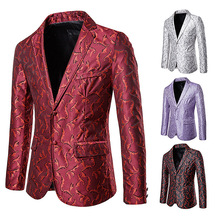 Red Suit Man,Silver Jacket Man,Mens Jacket,Mens Clothes,Mens Man,Men Longqibao Men Leisure Suits