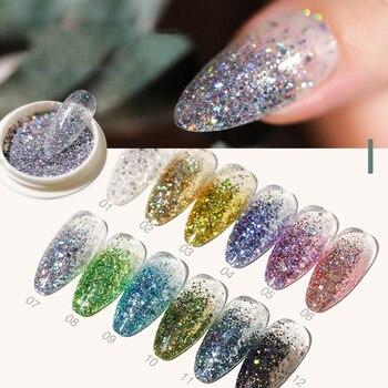 1 Doos espiegel Poeder de uñas Rosa Goud Champagne Zilver Goud Uña de cromo arte brillo pigmento polvo manicura decoración de uñas
