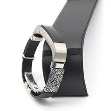 Fitbit-Correa de repuesto de cuero Retro Para Fitbit Alta HR, pulsera deportiva, adaptador de Metal