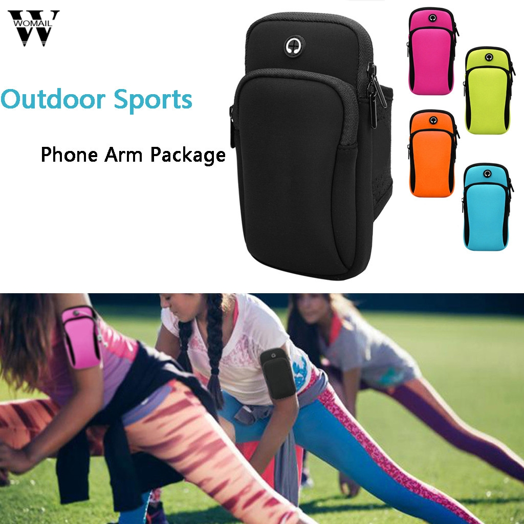 running - Universal Sports Running Wrist Band Bag Outdoor Sports Soft Waterproof Phone Arm Package Hiking Cell Strap Pocket For Samsung