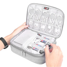 Multifunction Digital Storage Bag Portable Travel Kit Case Pouch Empty USB Data Cable Earphone Wire pen Power bank HDD Organizer july s song travel digital storage bag multifunction cable usb charger wire organizer case portable zipper power bank pouch bag