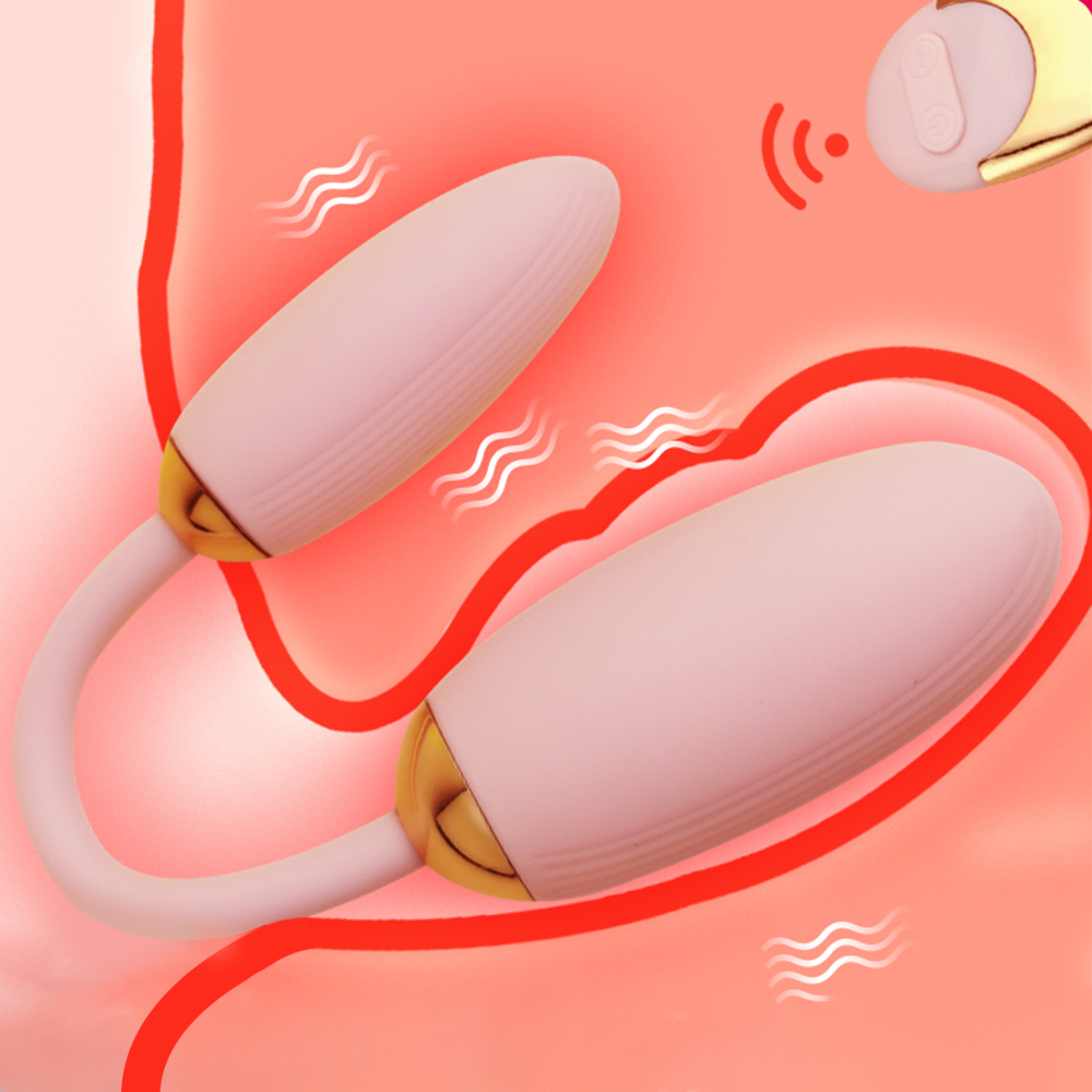Doppel Kopf Vibrierende Eier Fernbedienung Vibraor Frauen Lesben Dual Vibrator Jump Ei Sex Spielzeug für Paar Dildo G-spot Massager