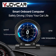 2021 Nieuwe Jaar Geschenk OBD2 Lcd Gauge Boordcomputer Auto Head Up Display Digitale Meter Security Alarm Water & Olie Temp Rpm Klok