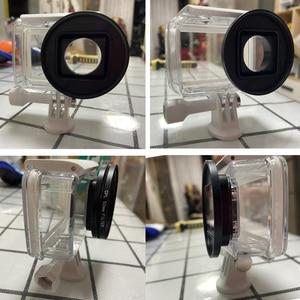 Image 5 - CAENBOO filtro de lente para XiaoMi Yi 4K/II/Lite/Plus Color CPL UV Red Filter Yi 4K carcasa impermeable carcasa 52mm accesorios de buceo