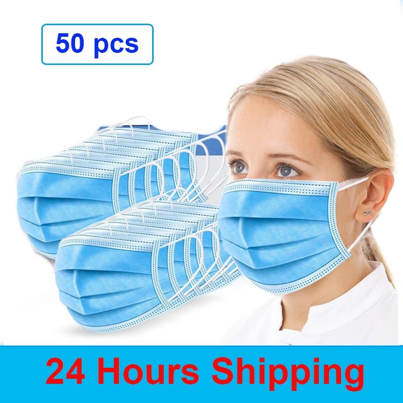 Face Mouth Mascarilla Antipolvo Anti Dust Mask Disposable Protect 3 Layers Filter Masks Mouth-muffle Mask Maska Przeciwpyłowa