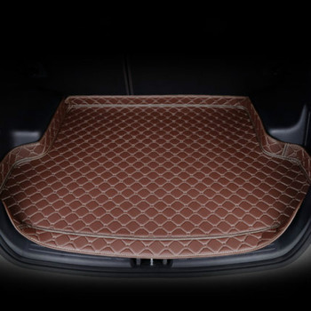 Custom 3D Full Covered Car Trunk Mats for Mercedes Benz C E GLE GLC GLK R S SL ... Waterproof Durable Rear Boot Cargo Carpets