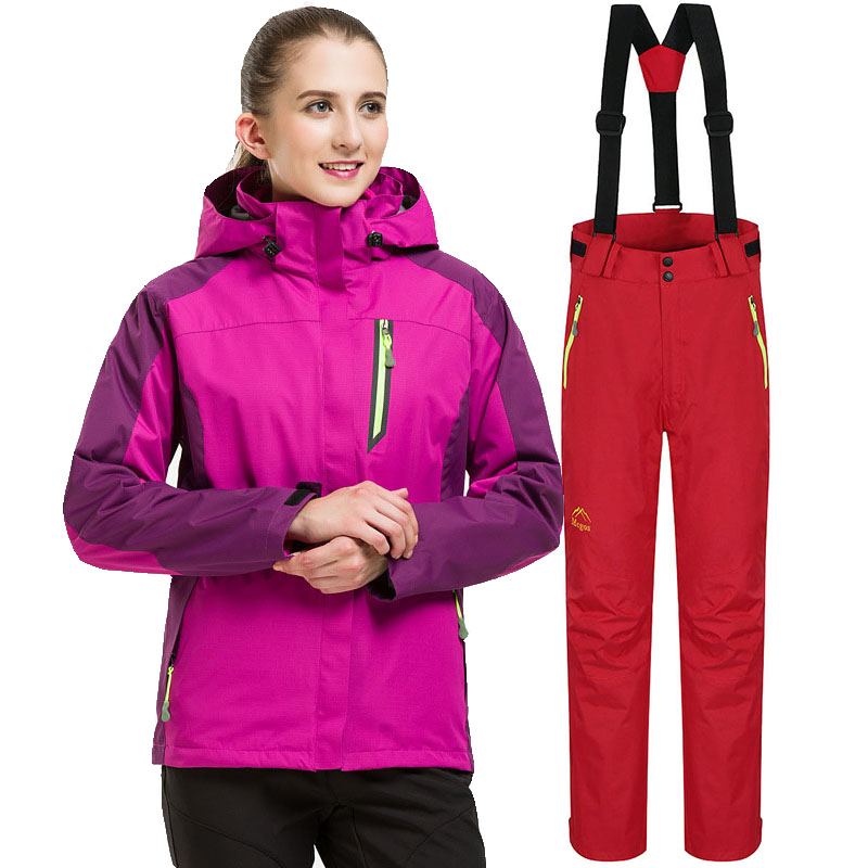 2019 Ski Suit Women Winter New Outdoor Sports Windproof Waterproof Thicken Warm Snow Jackets And Pants Skiing Snowboarding Sets
