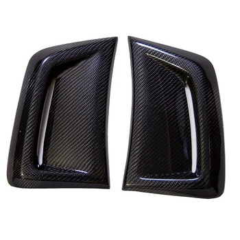 Car Carbon Fiber Air Vent Duct Cover Side Air Insert Vent Cover Trim Cover Vent Sticker for W204 C63 Amg 2012-2014 фото