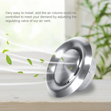 Air-Vent Duct-Cover Ventilation Stainless-Steel Grille Exterior-Wall Round Ceiling Adjustable