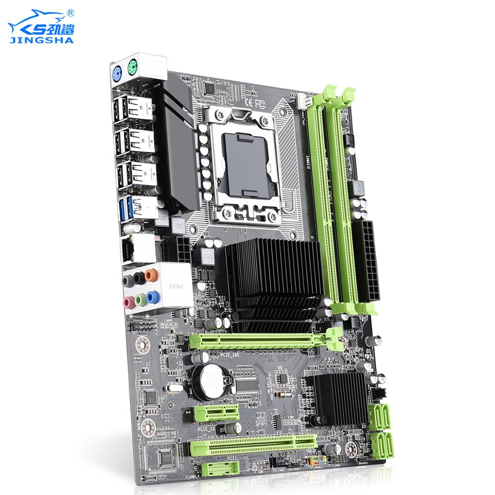 Jingsha X58 Motherboard DDR3 LGA 1366 M-ATX For Desktop Support AMD RX Series With USB 3.0