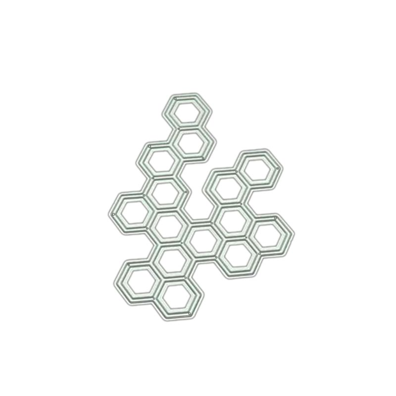 Hexagon DIY Metal Cutting Dies Stencil Scrapbooking Album Stamp Paper Card Art Crafts Decor   GXMA