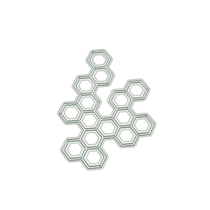 Hexagon DIY Metal Cutting Dies Stencil Scrapbooking Album Stamp Paper Card Art Crafts Decor   GXMA
