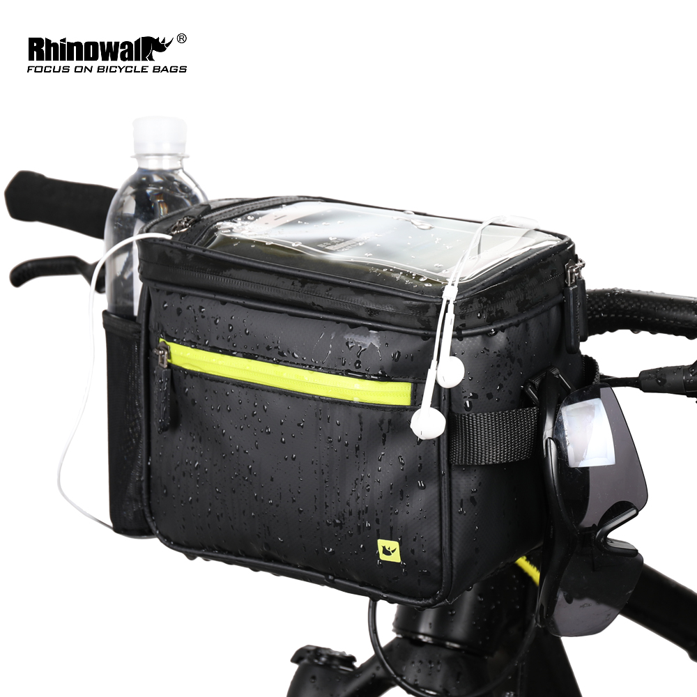 Rhinowalk Bicycle Handlebar Front Tube Bag Touch Screen Multifunction Shoulder Bag Phone Camera GPS Container Pouch