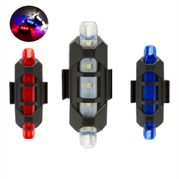 Bicycle Light USB Rechargeable LED Rear Light Safety Warning Taillight Cycling light Flash Super Bright Bike Light Tail Light image