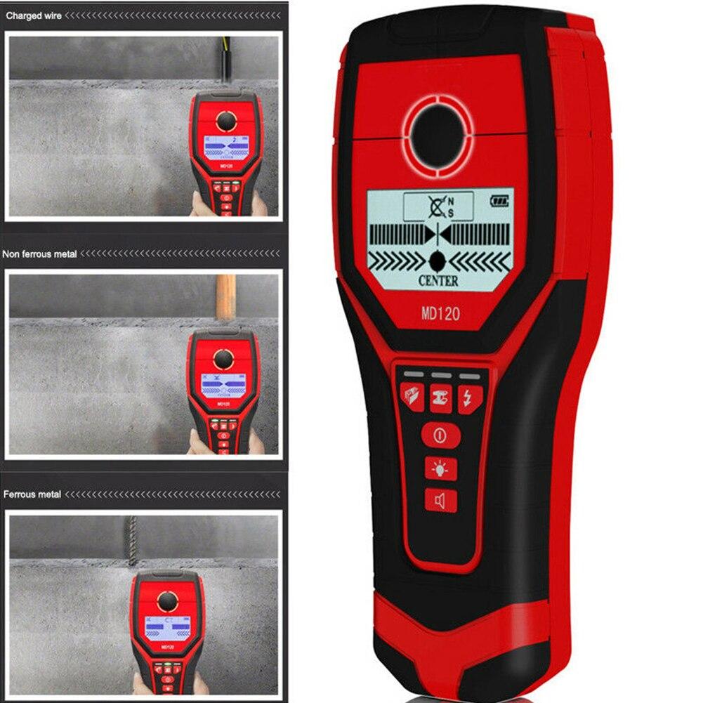 Détecteur de métaux multifonctionnel MD120 sensible détecteur de mur de bois en direct goujons de fil Scanner LCD affichage métal Finder offre spéciale - 4