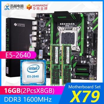 HUANANZHI X79 Motherboard Set X79-ZD3 REV2.0 MATX With Intel Xeon E5-2640 2.5GHz CPU 2*8GB (16GB) DDR3 1600MHz ECC/REG RAM