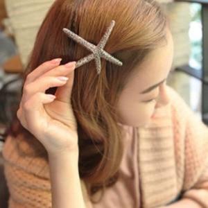 New Big Starfish Hair Clips For Women Hair Accessories Fashion Punk Gold Metal Barrettes Pins Girls Jewelry Akcesoria Do Wlosow