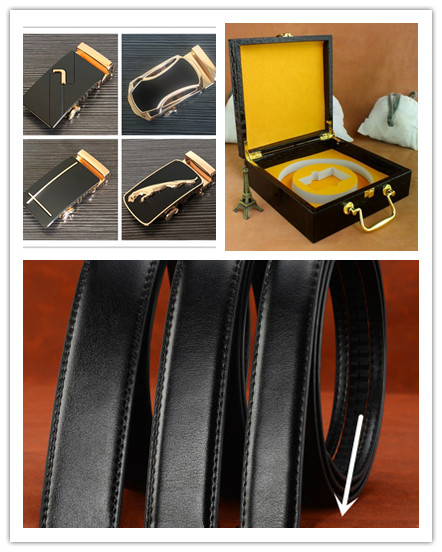 3sizes Solid Leather Belts High Quality Genuine Cow Leather Belt Man With Free Send Buckle And Exquisite Gift Box