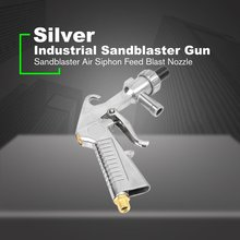 Абразивный воздушный Пескоструйный пистолет комплект 1 керамическое сопло 1 стальное сопло 1 всасывающая труба для песка промышленный Пескоструйный пистолет