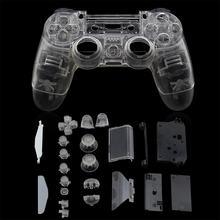Mando de cobertura completa transparente para Sony Playstation 4, botones de caja, Kit de reemplazo para PS4 V1 JDM-001 JDM-011