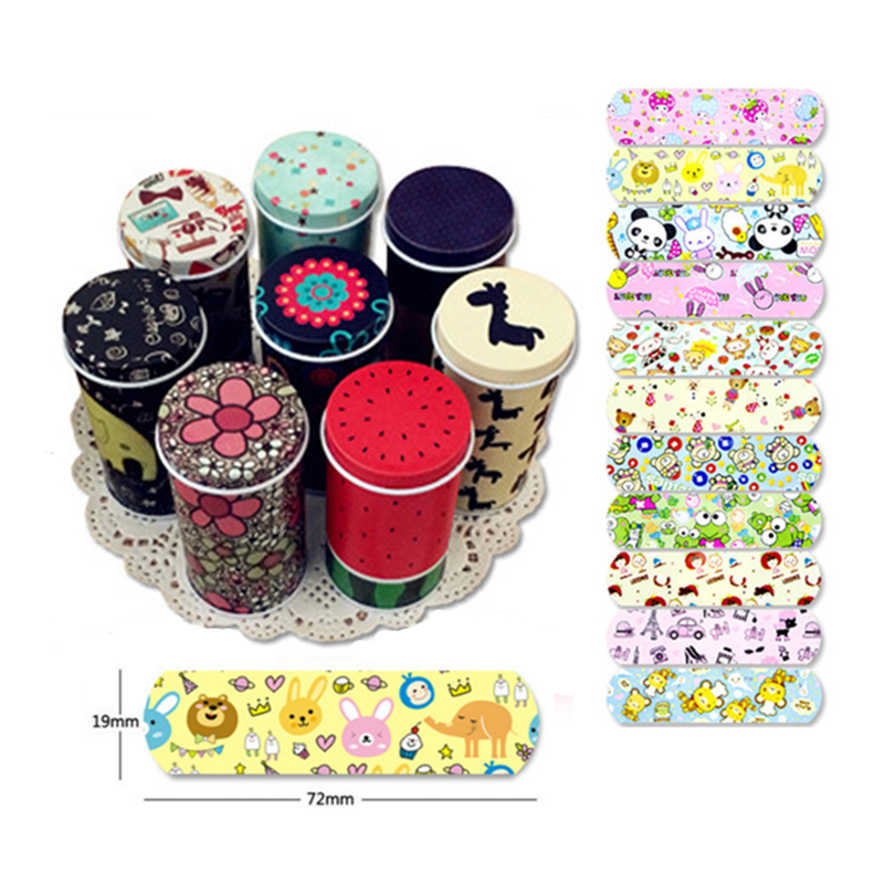 20Pcs Waterproof Breathable Cute Cartoon Band Aid Hemostasis Adhesive Bandages Sterile Stickers First Aid Emergency Kit