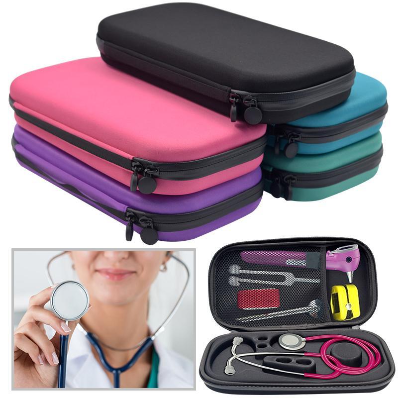 DishyKooker Portable Stethoscope Storage Box Carry Travel Case Bag Hard Drive Pen Medical Organizer