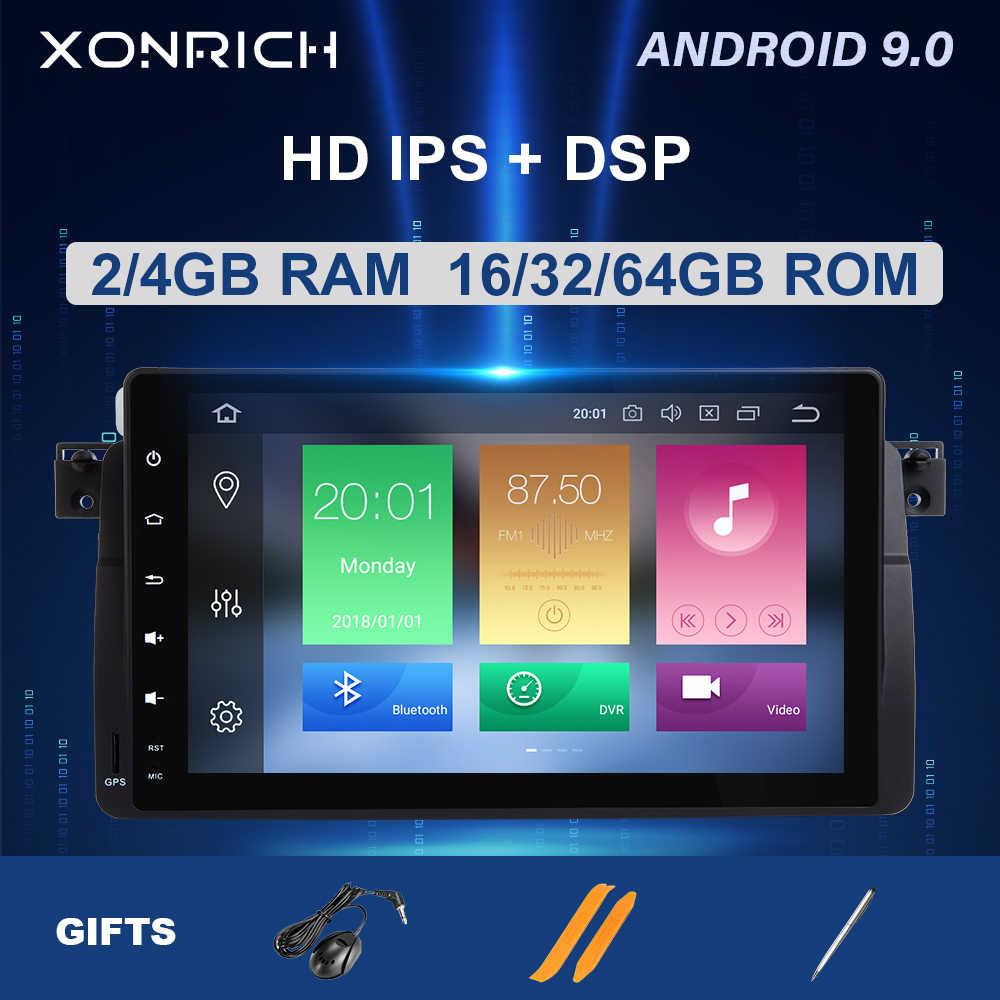 Autoradio Máy Nghe Nhạc Đa Phương Tiện 1 DIN Android 9.0 Cho Xe BMW E46 M3 Rover 75 Coupe 318/320/325/330/335 Mgzt Định Vị GPS Dẫn Đầu Đơn Vị