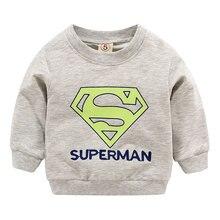 Новое поступление свитеров для маленьких мальчиков и девочек, весенне-осенние детские толстовки с капюшоном, свитер с длинными рукавами, Детская футболка, одежда